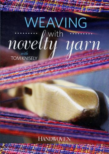 Weaving cd-dvd DVD Weaving with Novelty Yarn