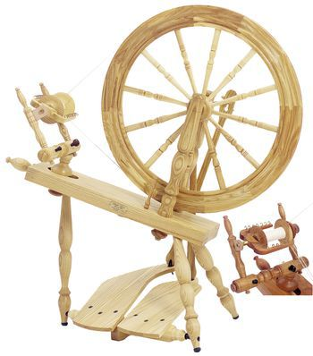 "Spinning equipment Schacht - Reeves Spinning Wheel 24""  Double-Treadle, Cherry"