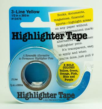 Multi-Craft equipment Highlighter Tape - Yellow