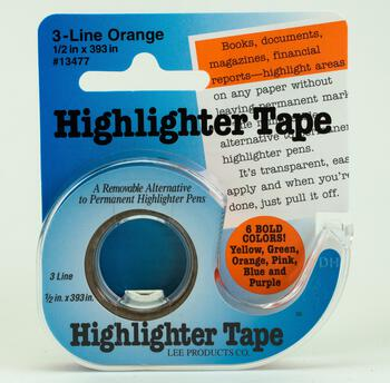Multi-Craft equipment Highlighter Tape - Orange
