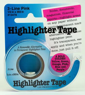 Multi-Craft equipment Highlighter Tape - Pink