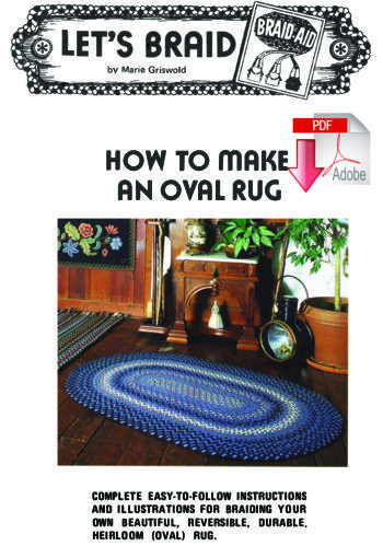Rug Making books How to Make a Braided Oval Rug  - Pattern download