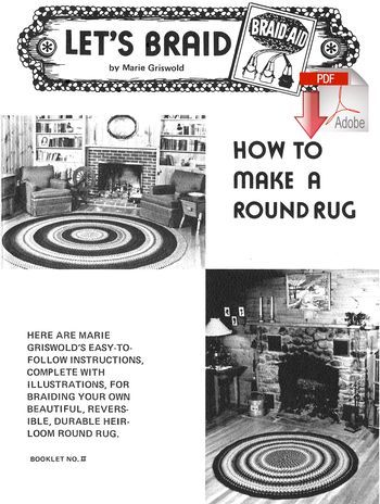 Rug Making books How to Make a Braided  Round Rug - Pattern download