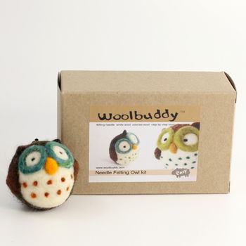 Felting kits Owl Needle Felting Kit - Woolbuddy