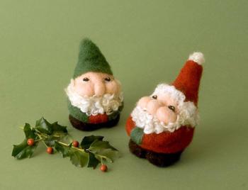 Felting kits Santa and Elves Needle Felting Kit- Romney Ridge