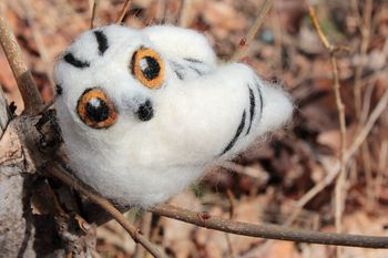 Felting kits Snowy Owl Single Creature Needle Felting Kit - Romney Ridge
