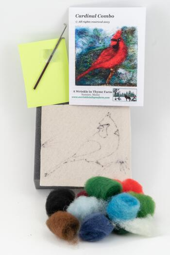 Felting kits Cardinal Tile Felting Kit (tools included)