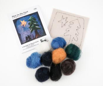 Felting kits Star in the East Tile Felting Kit
