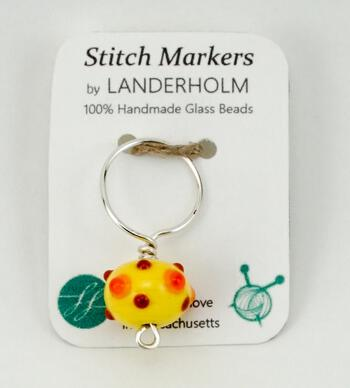 Knitting equipment Single Multicolor Glass Stitch Marker, Size Large