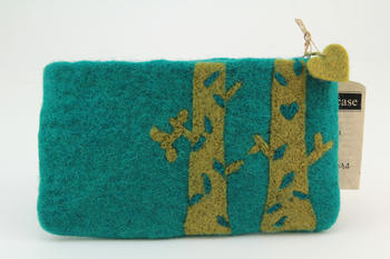 Knitting equipment Birch Felt Bag - Teal