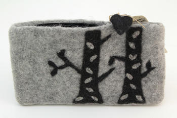 Knitting equipment Birch Felt Bag - Grey