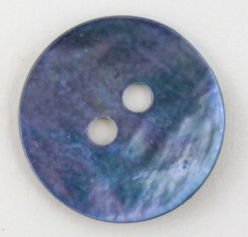 Multi-Craft equipment Blue Pearl Button 3/4""