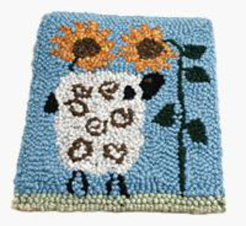 Multi-Craft patterns Smell the Flowers (Sheep) Hooking or Punching Pattern