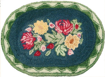 Rug Making patterns Grandmother's Flower Garden - Pattern only