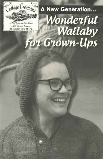 Knitting books A New Generation... Wonderful Wallaby for Grown-Ups