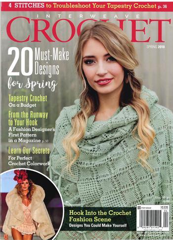 Crochet magazines Interweave Crochet Spring 2018