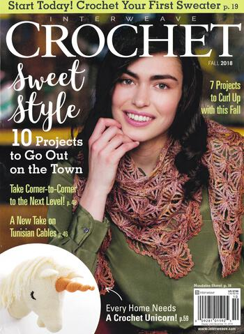 Crochet magazines Interweave Crochet Fall 2018