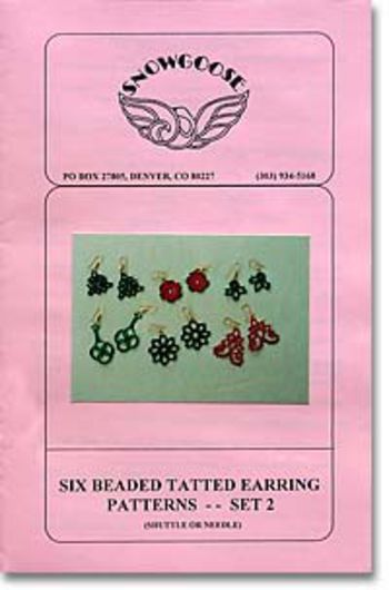 Bobbin Lace and Tatting patterns Beaded Tatted Earrings Set 2