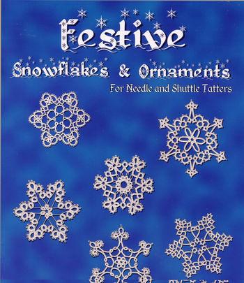Bobbin Lace and Tatting books Festive Snowflakes and Ornaments