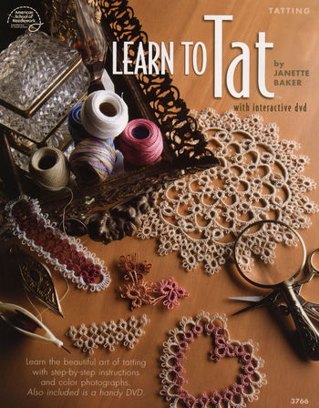 Bobbin Lace and Tatting books Learn to Tat with interactive dvd