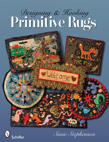 Rug Making books Designing and Hooking Primitive Rugs
