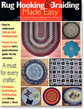 Rug Making books Rug Hooking and Braiding Made Easy