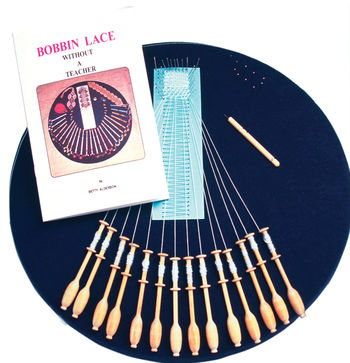Bobbin Lace and Tatting kits Halcyon's Bobbin Lace Kit