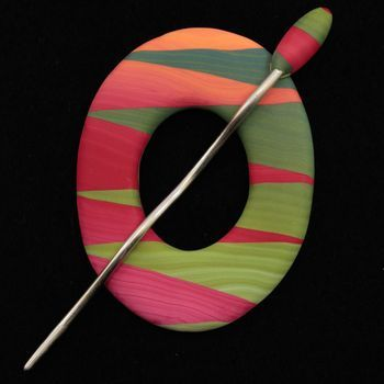 Multi-Craft equipment Marigold Ring Ring Shawl Pin by Bonnie Bishoff Designs