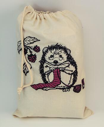 Multi-Craft equipment Hedgehog Project Bag by Mum n Sun Ink