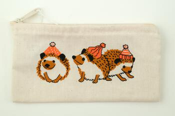 Multi-Craft equipment Wee Hedgehog Zip Pouch by Mum n Sun Ink