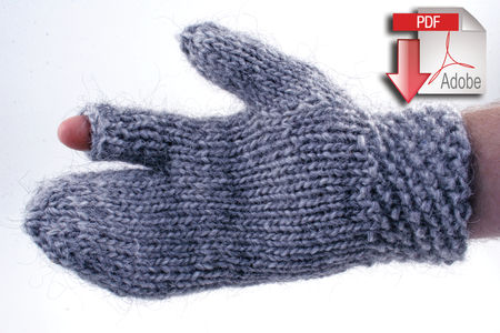Knitting patterns Guard's Gauntlet - Bulky weight wool - Pattern download