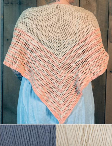 Crochet kits Waiting Room Crocheted Shawl Kit - Gray