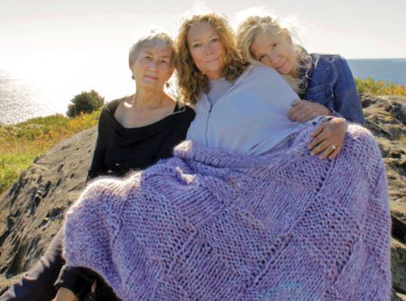 Knitting patterns Cobble Stone Cove Throw - Seguin Collection