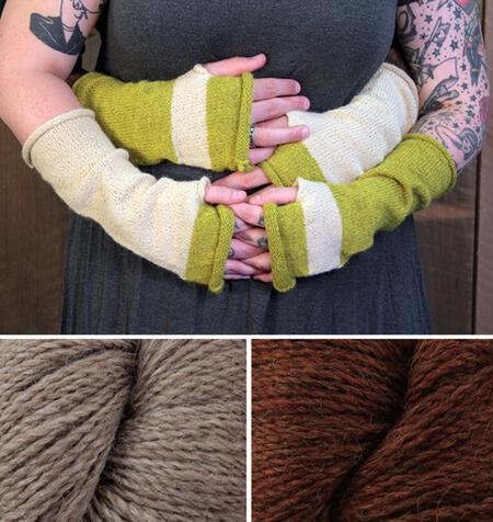 Knitting kits Whole Wide World - Fingerless Mitts Kit (Spice)