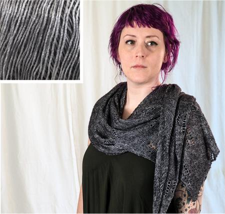 Knitting kits All Through the Night Wrap Kit - Silver