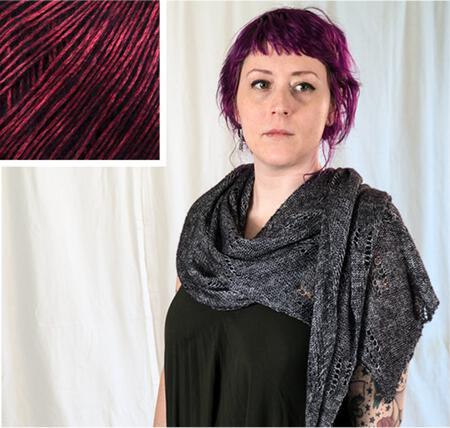 Knitting kits All Through the Night Wrap Kit - Crimson