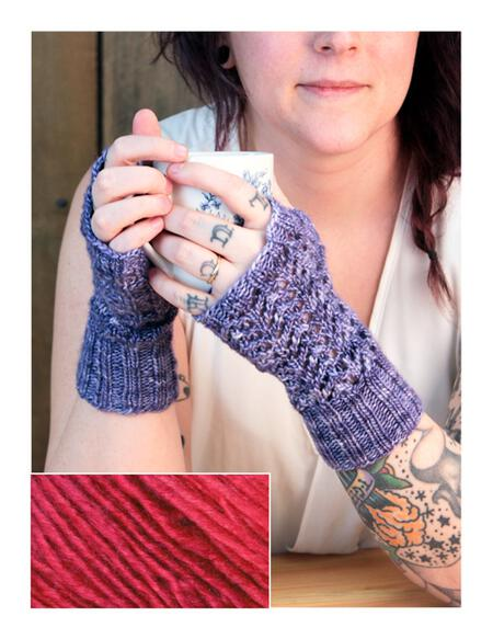 Knitting kits Cupid's Victim Mitts Kit - Amoroso