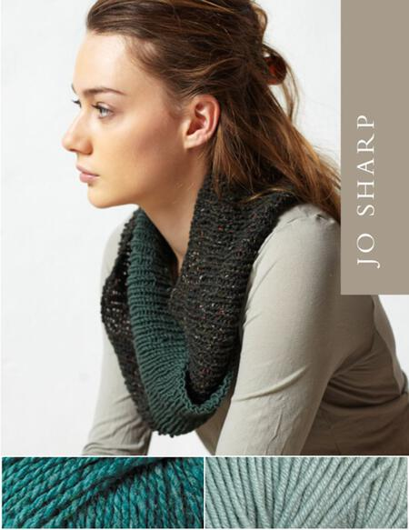 Knitting kits Jo Sharp Rib Twist Cowl Kit - Resonate/Peppermint