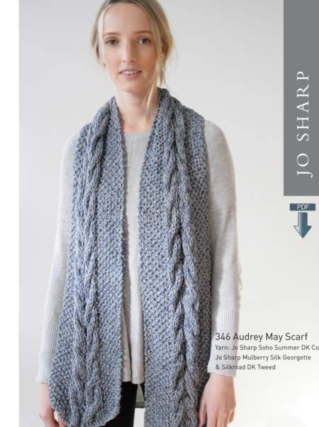 Knitting patterns Jo Sharp Audrey May Scarf - Pattern Download