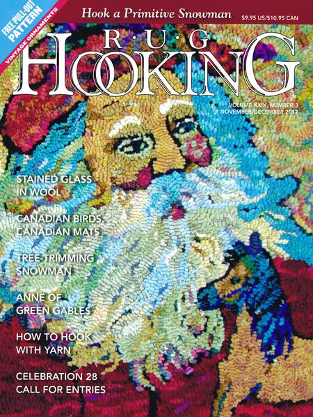 Rug Making magazines Rug Hooking Nov/Dec 2017
