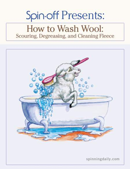 Spinning books Spin-Off Presents:  How to Wash Wool - eBook Printed Copy
