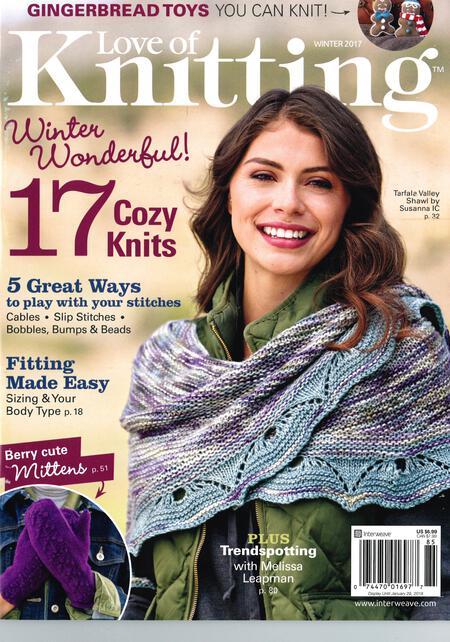 Knitting magazines Love of Knitting Winter 2017