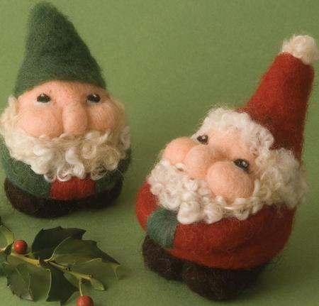 Needled--Felted--Santa--Claus