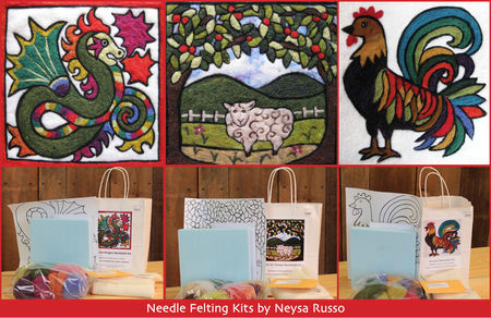 Needle--Felting--Creatures:--Sheep,--Rooster--or--Dragon
