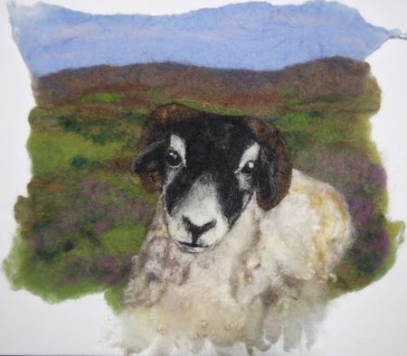 Needle--Felted--Wool--Painting