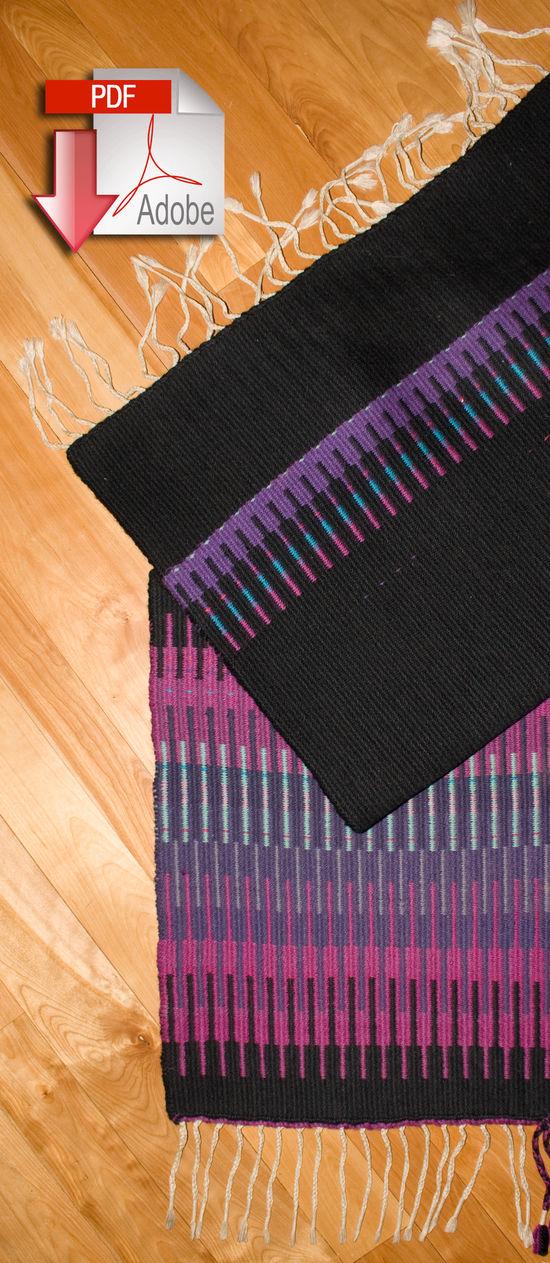 Weaving Patterns Aurora Borealis Rug - Pattern download