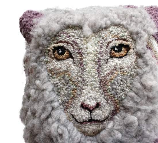 Rug Making Patterns Sheep Portrait of Daphne Hooking Pattern