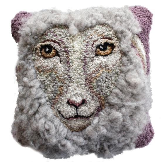 Rug Making Patterns Sheep Portrait of Daphne Hooking Pattern - download