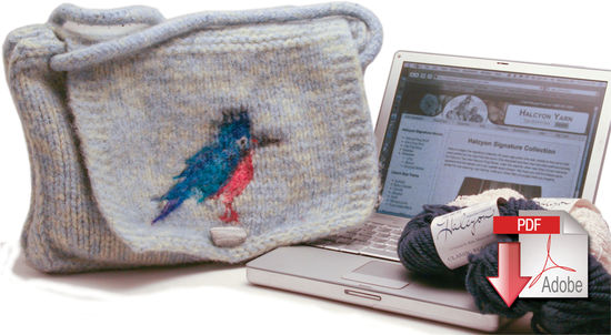 Knitting Patterns Kingfisher Messenger Bag - Pattern download