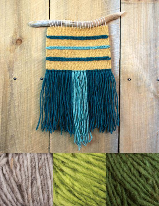 Weaving kits Triple Play Wall Hanging Kit - Green